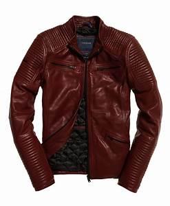 Veste En Cuir Rouge Homme : blouson en cuir rouge iconic superdry mode conseils mode ~ Melissatoandfro.com Idées de Décoration