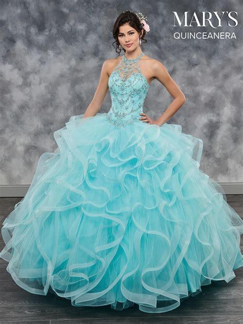 marys quinceanera dresses style mq  aqua