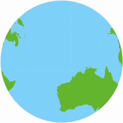 Australia Continent Earth Move Map Australian Down