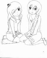 Bff Anime Coloring Drawings Easy Friends Friend Kawaii Dibujos Amigas Manga Beste Mejores Bffs Deviantart Nana Utau Forever Colorear Dibujo sketch template