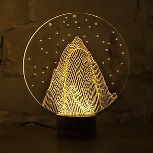 Table A Bulbing Optical Illusion 2d Led Lamp Looks Like 3d