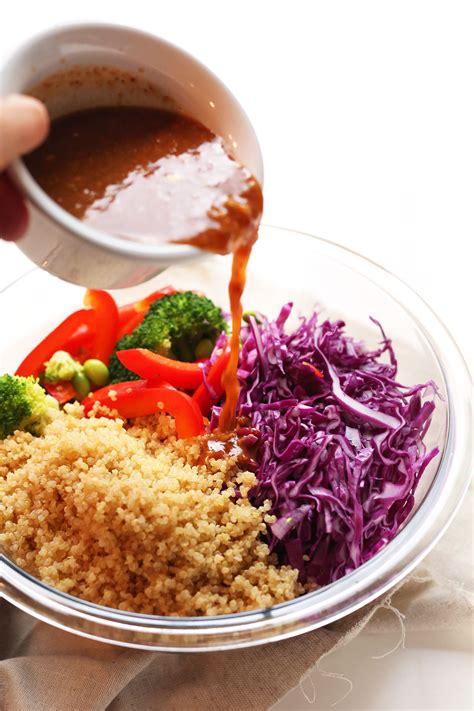 healthy asian garden vegan salad recipes with quinoa