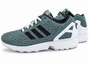 Adidas ZX Flux W Mesh Verte Chaussures Adidas Chausport