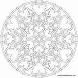 Mandala Heart Coloring Pages Mandalas Number Christmas Chainmail Adults Transparent Sheets Suncatcher Printable Patterns 3d Template Format Celtic Adult Slim sketch template