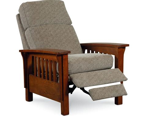 Appealing Mission Style Recliner With High Leg