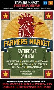 Farmers Market Event Poster, Flyer or Ad Template #design ...