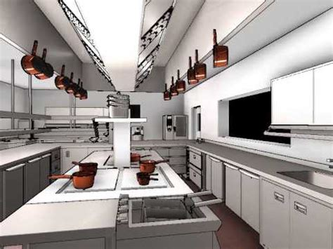 Small Space Kitchens Ideas - commercial kitchen design 3d animation
