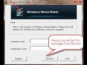 registration code for windows movie maker 2018