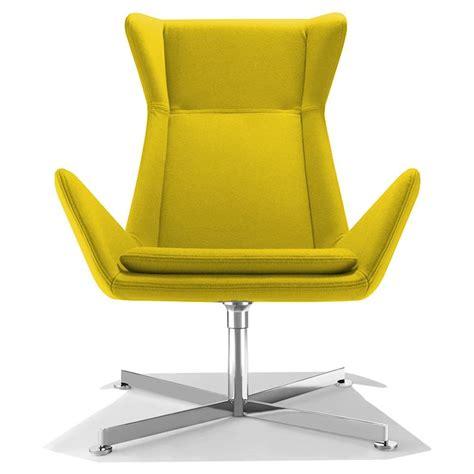 fauteuil de bureau design jaune free sur cdc design