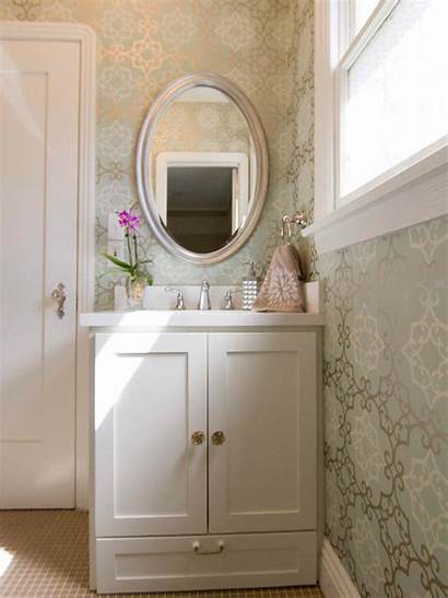 Bathroom Traditional Hgtv Sophisticated Patterned