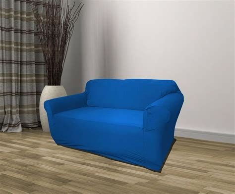 Furniture Seat Covers blue jersey loveseat stretch slipcover cover