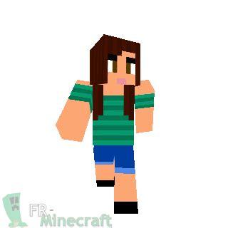 minecraft skin minecraft fille