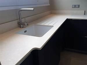 Evier Cuisine Granit : rainurage d 39 evier de cuisine en granit quartz dekton en ~ Premium-room.com Idées de Décoration