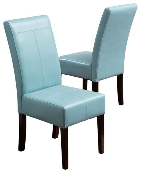 emilia fabric dining chair set of 2 teal contemporary