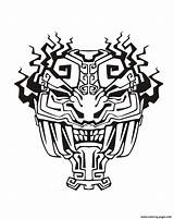 Mayan Aztec Mask Coloring Inca Incas Aztecs Pages Adult Inspiration Drawing Mayans Printable Adults Temple Drawings Jaguar Template Inspired Justcolor sketch template