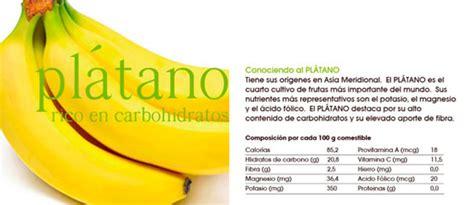 valor nutricional platano dulce jard 237 n valor nutricional