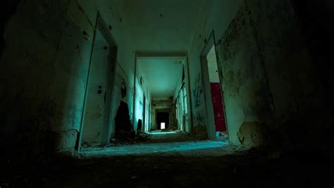 Scary Hotel Corridor Stock Footage Video 3828869