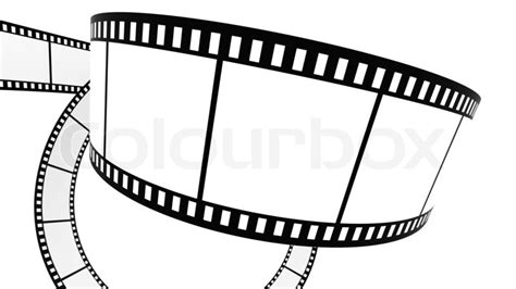 blank film  white background  stock photo