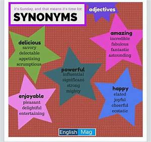 Synonyms For Amazing  synonyms adjectives elt language that