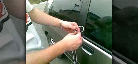 how to unlock door how to unlock your car door with a shoelace in 10 seconds