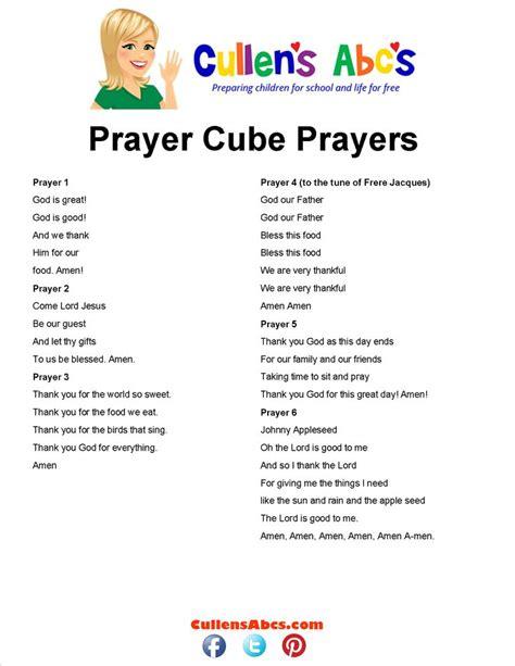 prayer cube prayers pattern cullen s abc s www 393 | 2336e3e98206a0b3a8aa0da5f60d9ed2