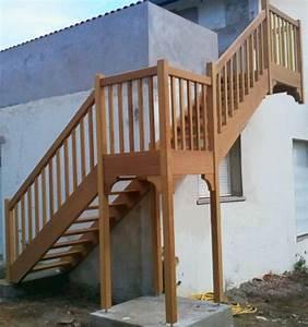 Escalier Extérieur En Bois : escalier exterieur vente d 39 escaliers et gardes corps en ~ Dailycaller-alerts.com Idées de Décoration