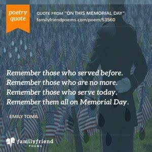 Memorial Day Po... Remembrance Short Quotes