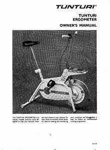 Tunturi W1 Users Manual Om
