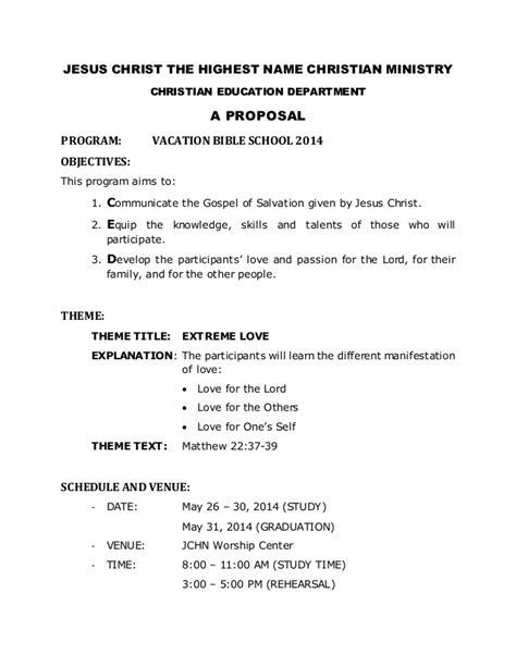 vbs  proposal  church