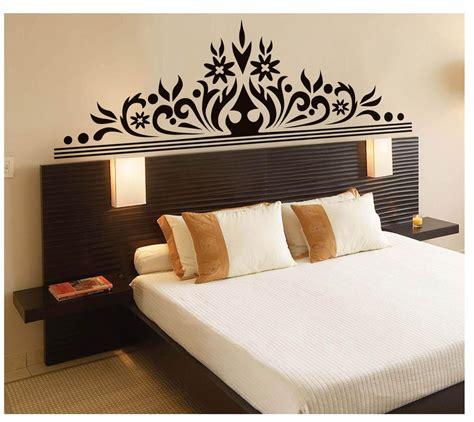 bedroom wall art decal sticker headboard wall decoration mural poster classic black flowers