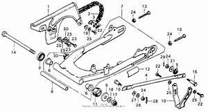 Swingarm   Chain Case For Honda Mt125