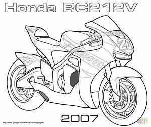 dibujo de moto de carreras honda rc212v para colorear With suzuki gsx1300r