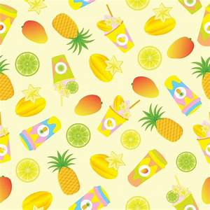 Tropical fruit and juice pattern background Vector | Free ...