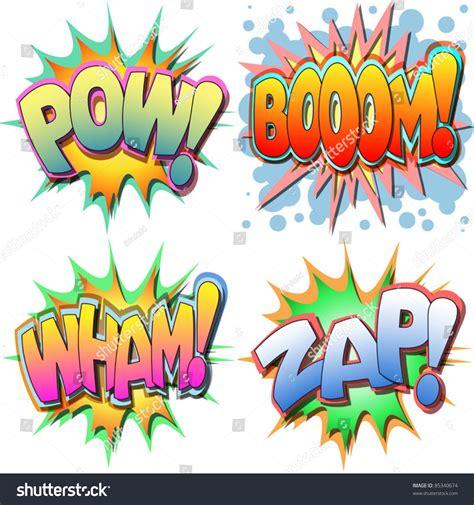 zap wham pow a selection of comic book illustrations pow boom wham