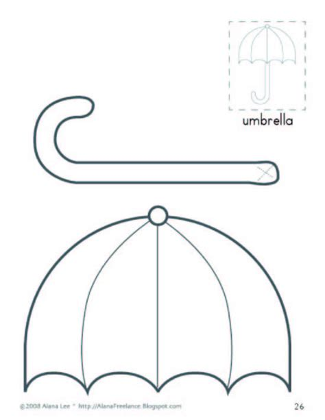 umbrella pattern for preschool umbrella template for preschool free clipart 256