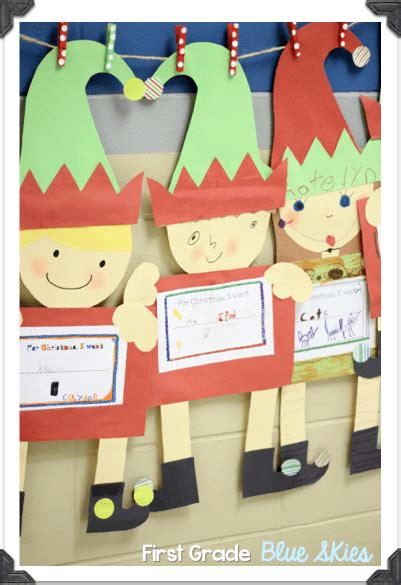Christmas Crafts In The Classroom Elves  First Grade