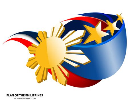 Philippine Flag Logo  Flag Of The Philippines By Jsonn