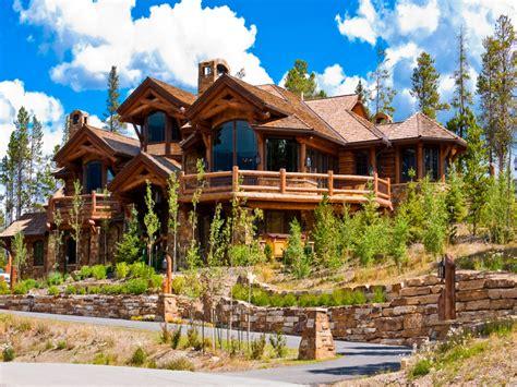 colorado log cabin homes log cabin winter scenes log home