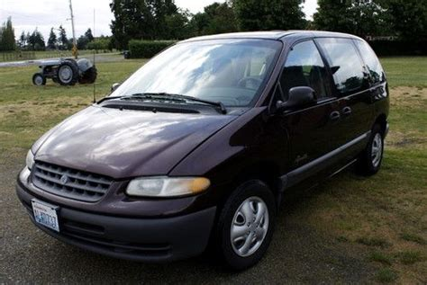 automobile air conditioning repair 1997 plymouth voyager free book repair manuals buy used 1997 plymouth voyager se maroon with gray interior good condition drives great in
