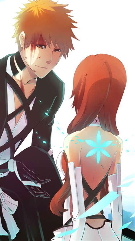 1080x1920 Anime Art Persona92 Girl Guy Bleach Inoue
