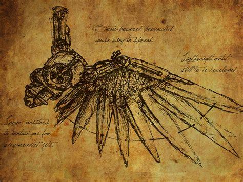 Steampunk Da Vinci Flying Machine Sketch Jordan Storey