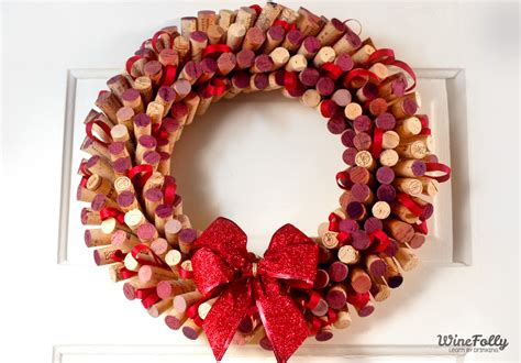 how to make a wreath how to make a wreath out of wine corks wine folly