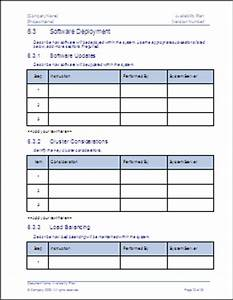 availability plan template technical writing tips With it backup plan template
