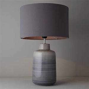Buy john lewis aditi ceramic table lamp grey john lewis for Table lamp shades john lewis