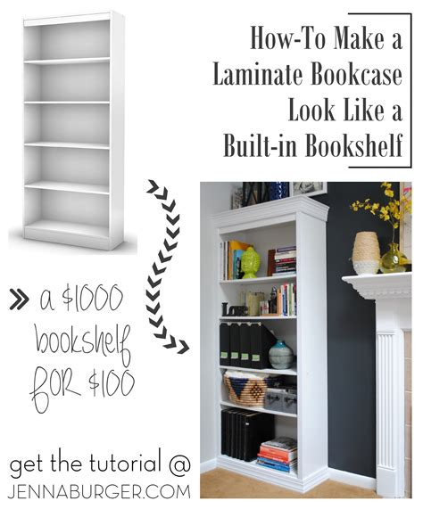 bookcases that look like built ins how to make a laminate bookcase look like a built in