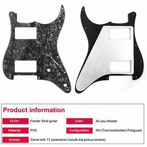 Guitar Pickguard For Fender Stratocaster Strat Replacement