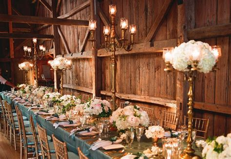 rustic elegance wedding reception venue  decor