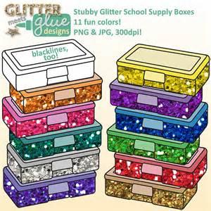 School Supplies Box Clip Art