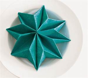 Origami Stern Falten Einfach : faltanleitung stern home fashion servietten und ~ Watch28wear.com Haus und Dekorationen