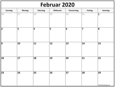 februar kalender kalender